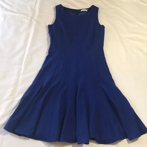 Fit and Flair Royal Blue Calvin Klein Dress